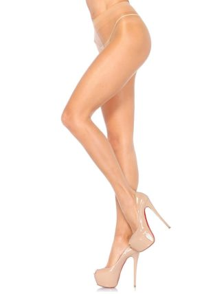 Sheer Strømpebukse beige-nude - Back - Leg Avenue By Valerie