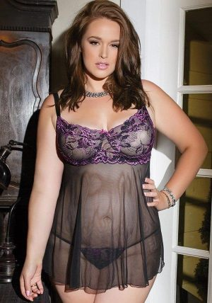 Babydoll & G-streng black - Front - Coquette - Nightwear By Valerie