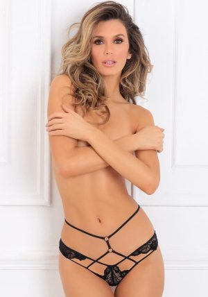 Own It Crotchless Brief black - Front - Rene Rofé By Valerie