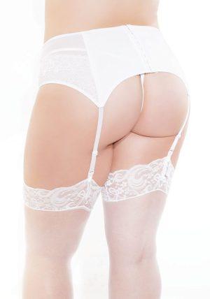 Lined Knit Hofteholder hvit - Back - Coquette - Lingerie By Valerie