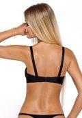 Elegant Cassi Push-up BH & Stringtruse Sort Blonde – BH bak – Pari Pari – Lingerie Sett By Valerie
