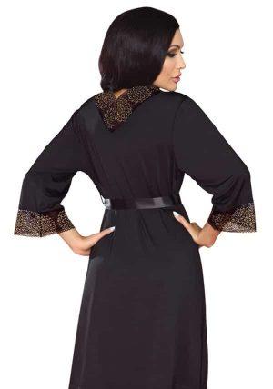 Yasmin Morgenkåpe blue - Back - Livia Corsetti - Nightwear By Valerie