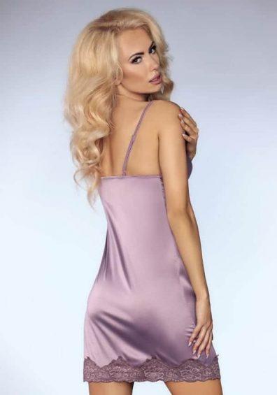 Noelle Chemise lilla – Back – Livia Corsetti – Nightwear By Valerie