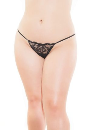 Stretch Lace G-streng black - Front - Coquette By Valerie