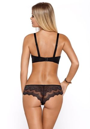 Elegant Cassi Push-up BH & Brazilian Sort Blonde - Helprofil bak - Pari Pari - Lingerie Sett By Valerie