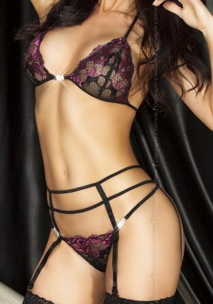 Amanda Sett purple - Back - Chili Rose - Lingerie By Valerie
