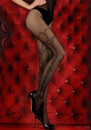 Hush Hush Strømpebukser 358 black - Front - Ballerina Hosiery By Valerie