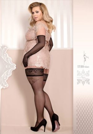 Soft Collection Stay-ups 365 black - Back - Ballerina Hosiery By Valerie