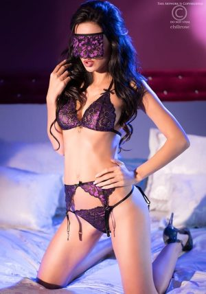 Misty Full Set purple - Front - Chili Rose - Lingerie By Valerie
