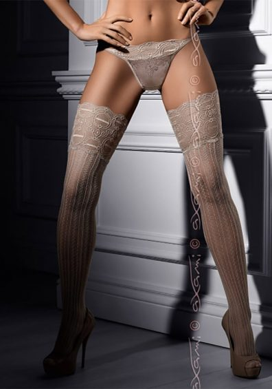 Creme Chantilly Stockings gra-no – Back – Axami By Valerie