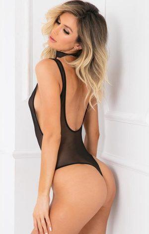 Choke Out Sexcessory Body black - Back - Rene Rofé - Lingerie By Valerie