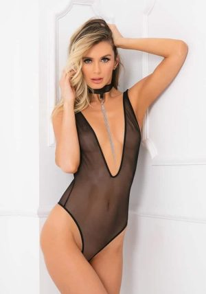 Choke Out Sexcessory Body black - Back - Rene Rofé - Lingerie By Valerie