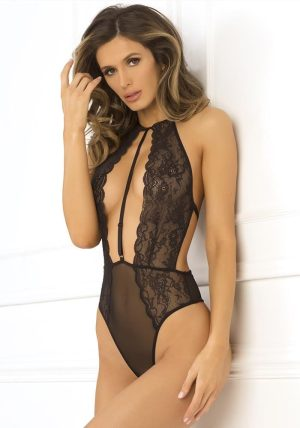 Hot Pursuit Lace Body black - Front - Rene Rofé - Lingerie By Valerie