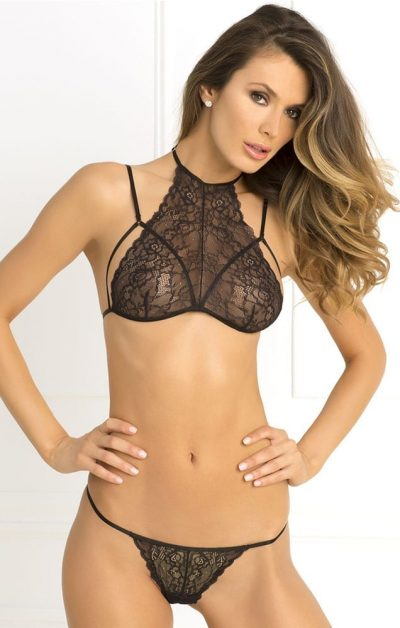 Most Wanted Sett black - Front - Rene Rofé - Lingerie By Valerie