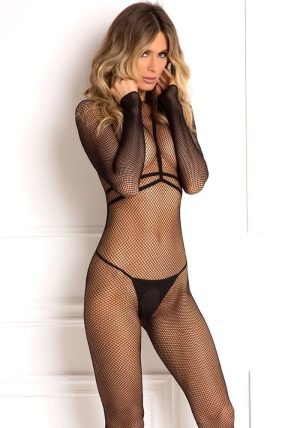 Body Conversation Harness Bodystocking black - Back - Rene Rofé By Valerie