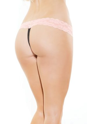 Stretch Lace String rosa - Back - Coquette By Valerie