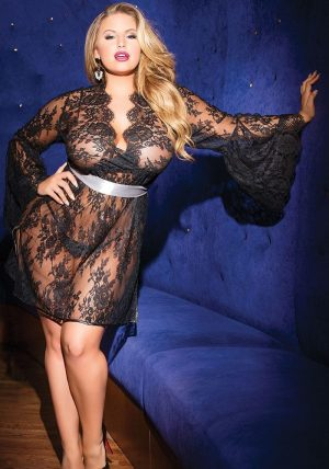 Lace Chemise black - Front - Coquette - Nightwear By Valerie