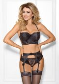 Chocolat Bar Push-up Semi-korsett sort – Front – Axami By Valerie