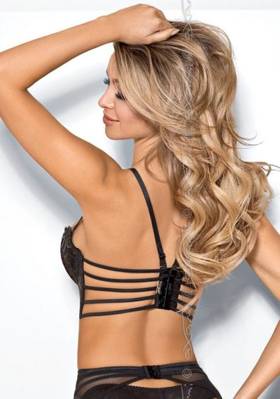 Chocolat Bar Push-up Semi-korsett sort – Back – Axami By Valerie