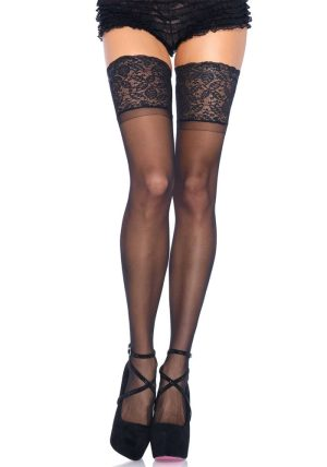 Stay-up Sheer Thigh High black - Back - Leg Avenue By Valerie
