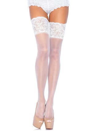 Fishnet Stockings white - Back - Leg Avenue By Valerie