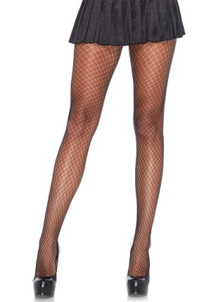 Spandex Plaid Net Strømpebukse black - Back - Leg Avenue By Valerie