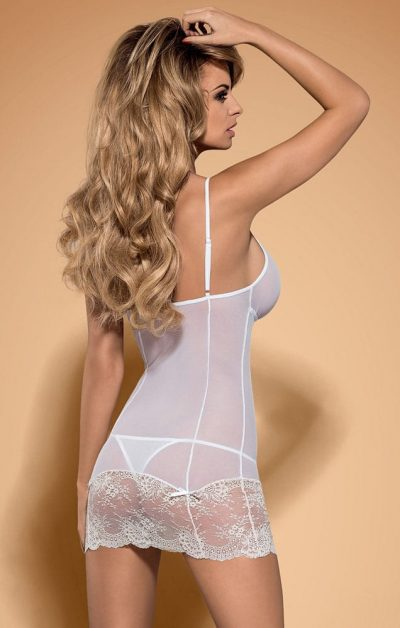 Bisquella Chemise & String white - Back - Obsessive - Nightwear By Valerie