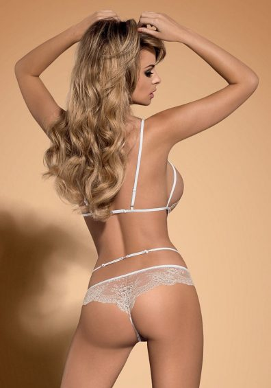 Bisquitta Teddy hvit – Back – Obsessive – Lingerie By Valerie