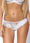 Elegant Cleo Soft BH & Stringtruse Hvit Blonde – String foran – Pari Pari – Lingerie Sett By Valerie