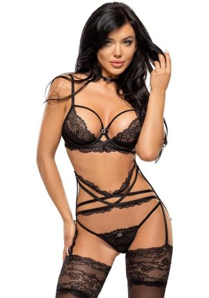 Diamond Sett black - Front - Beauty Night - Lingerie By Valerie