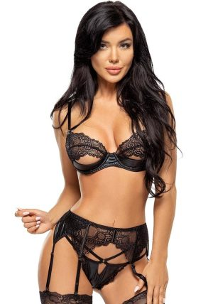 Marilyn Sett black - Front - Beauty Night - Lingerie By Valerie