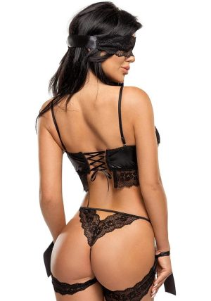 Shaquila Sett black - Back - Beauty Night - Lingerie By Valerie