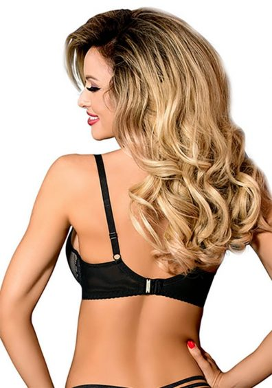 Farida Strappy Push-up BH black – Back – Axami By Valerie
