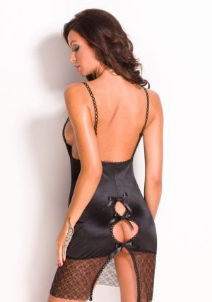 Coco Chemise sort - Back - Anais Apparel - Nightwear By Valerie