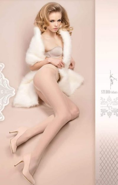 Wedding Day Stay-ups 380 hvit - Back - Ballerina Hosiery By Valerie