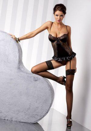 Blanchet Korsett black - Back - Casmir - Lingerie By Valerie