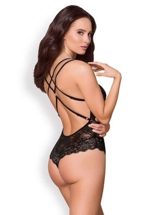 860 Camilla Teddy sort - Back - Obsessive - Lingerie By Valerie