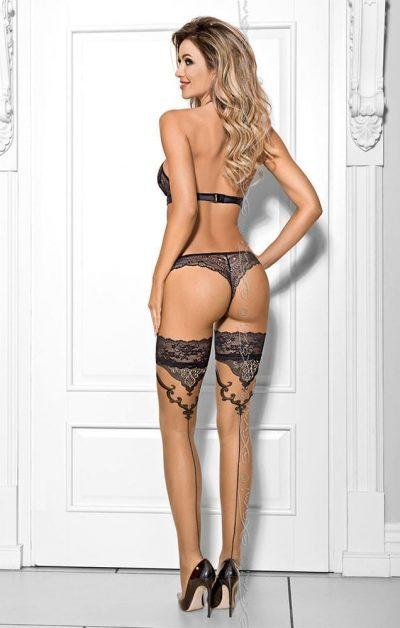 Fondant Au Chocolat Stockings - Back - Axami By Valerie