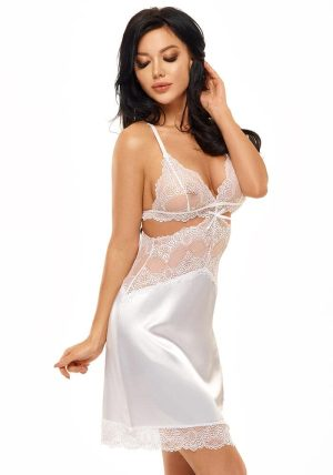 Adelaide Chemise white - Front - Beauty Night - Nightwear By Valerie