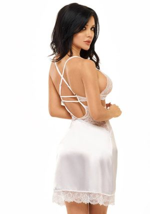 Adelaide Chemise hvit - Back - Beauty Night - Nightwear By Valerie