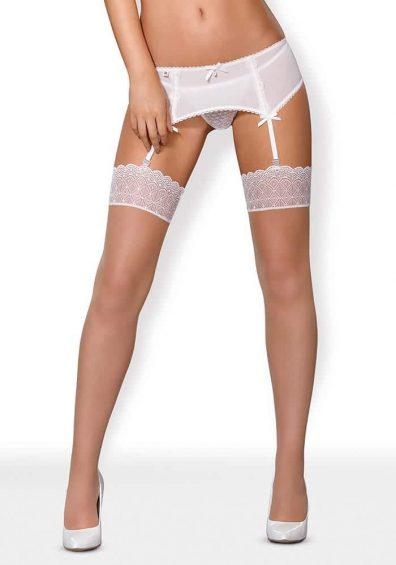 843 Stockings hvit – Front – Obsessive By Valerie