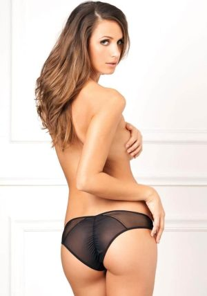 Crotchless Fishnet Brief sort - Back - Rene Rofé By Valerie