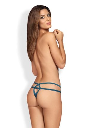 838 THO Thong blue - Back - Obsessive By Valerie