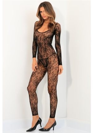 Body Up Crotchless Bodystocking black - Front -  By Valerie
